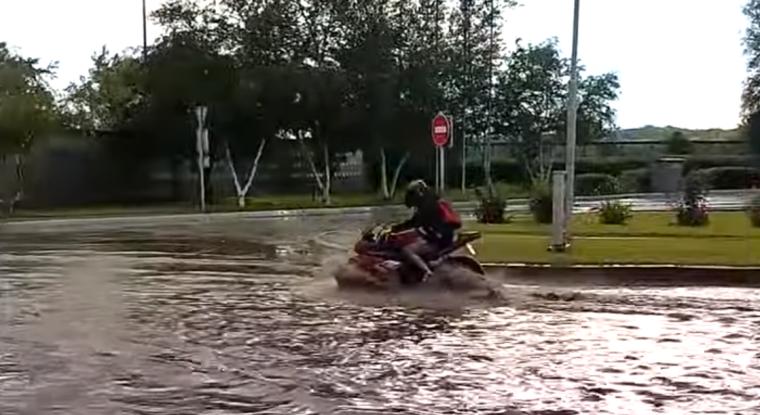 Потоп в Херсоні/Скріншот з відео