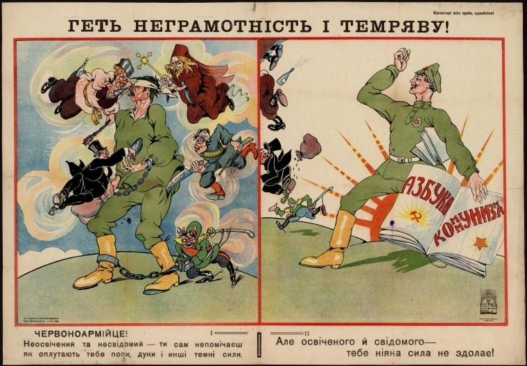 Агітаційний плакат радянської влади
