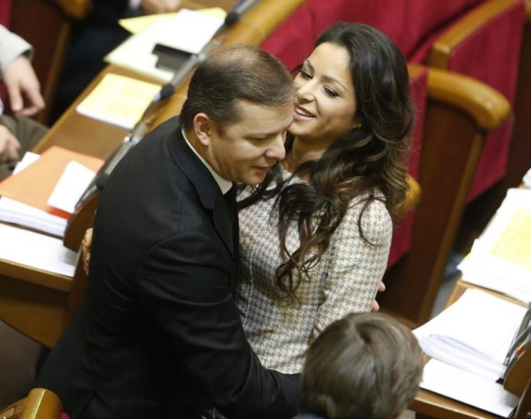 Лідер Радикальної партії Олег Ляшко та народний депутат від Радикальної партії Злата Огнєвіч