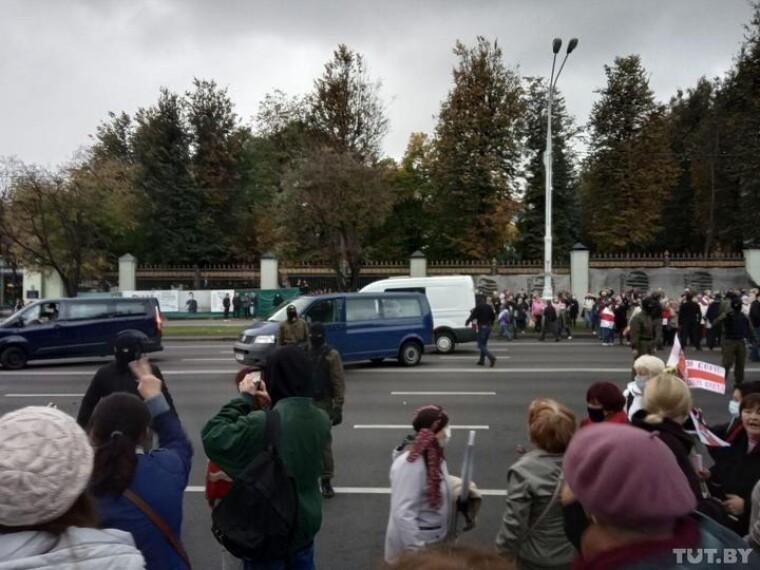 Розгін маршу пенсіонерів в Мінську