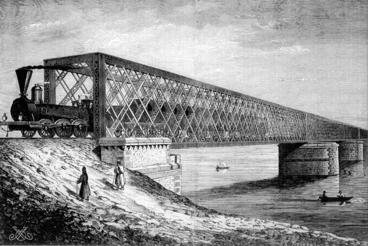 Дарницький залізничний міст, збудований у 1870 р. Підірваний поляками при відступі у червні 1920-го