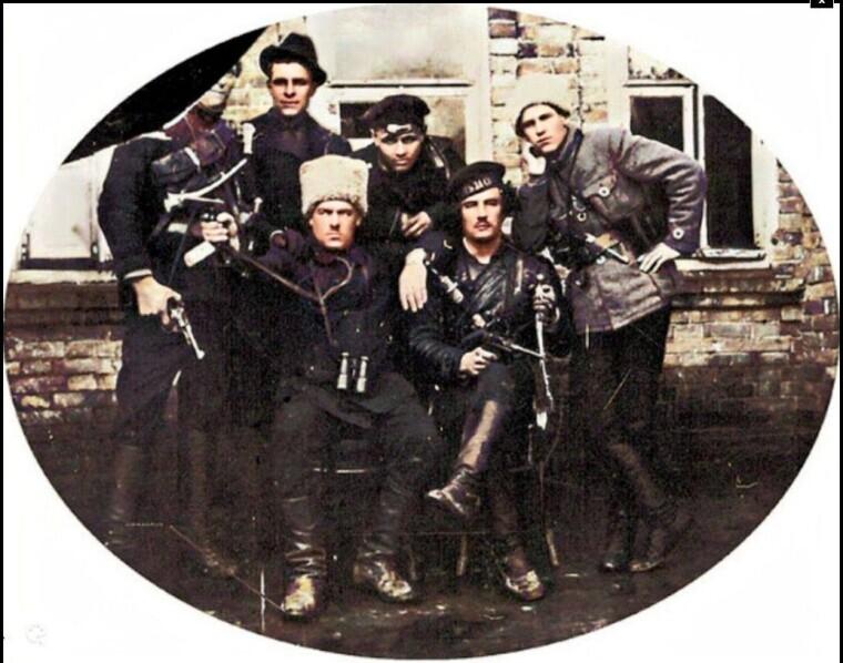 Группа махновской командиров. Конец 1920