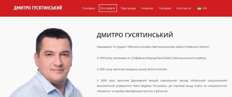 Биография кандидата на местных выборах 2020-го