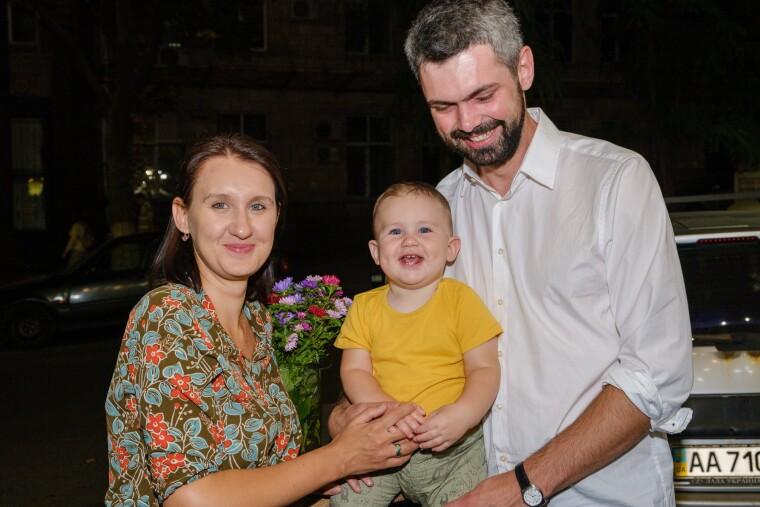 Антон Дробович з сім'єю