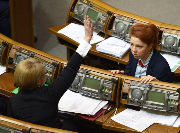 Юлія Тимошенко та Альона Шкрум у Верховній Раді/УНІАН