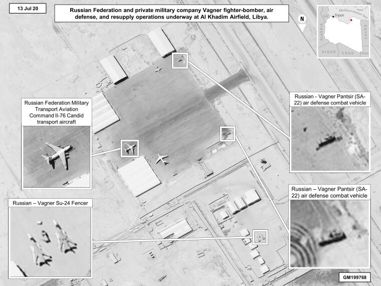 """Российская авиатехника в Ливии, доставленная для наемников ЧВК """"Вагнер"""""""