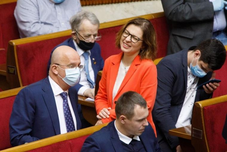 Народний депутат Інна Совсун під час засідання Верховної Ради України, 2020 р.