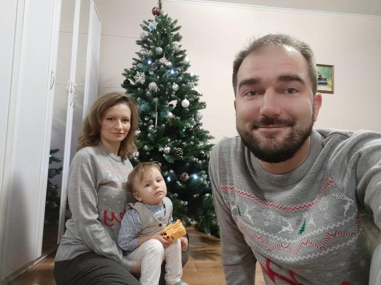 Олександр Юрченко з сім'єю