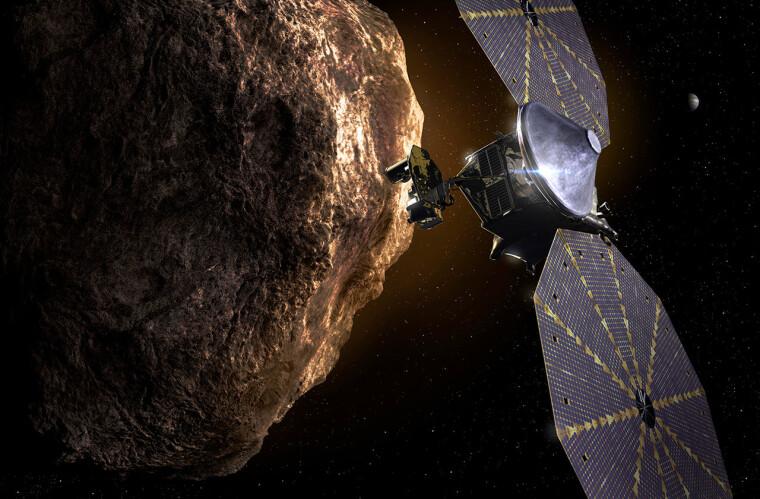 """Межпланетная станция """"Люси"""" отправится изучать пять Троянских астероидов Юпитера  / NASA"""