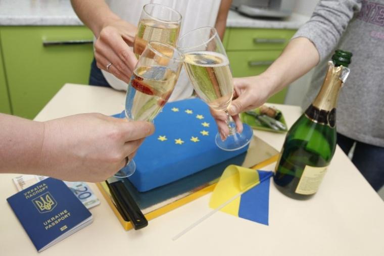 Празднование введения безвизового режима для украинцев