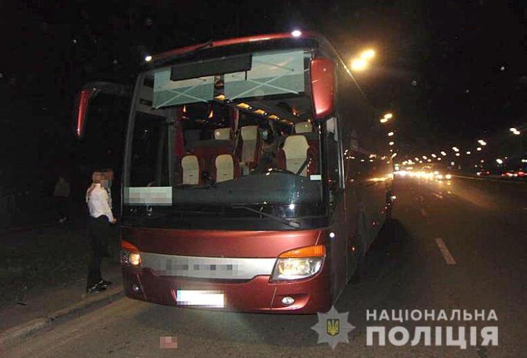 """Автобус """"Харьков-Киев"""", в котором произошло нападение"""