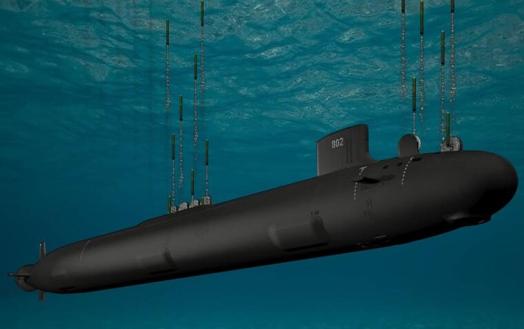 Подводная лодка класса Virginia / Художественная визуализация General Dynamics
