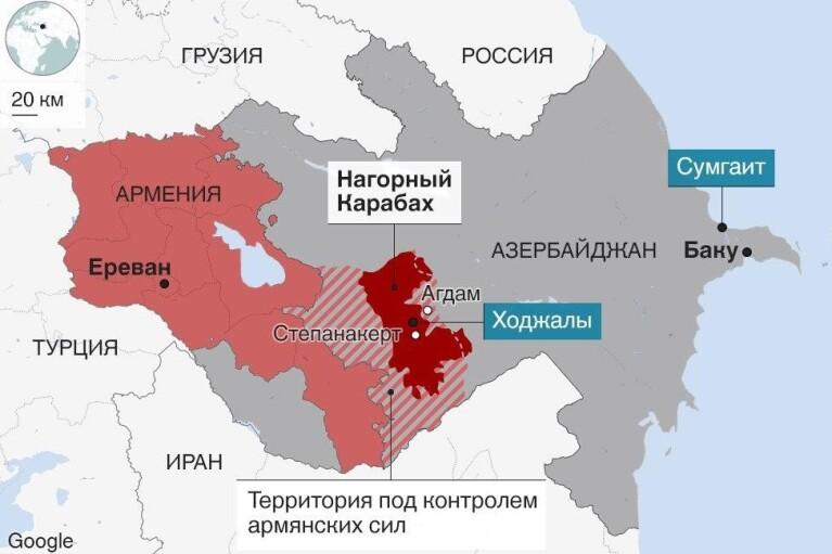 Конфликт  между Арменией и Азербайджаном в Нагорном Карабахе. Хроника