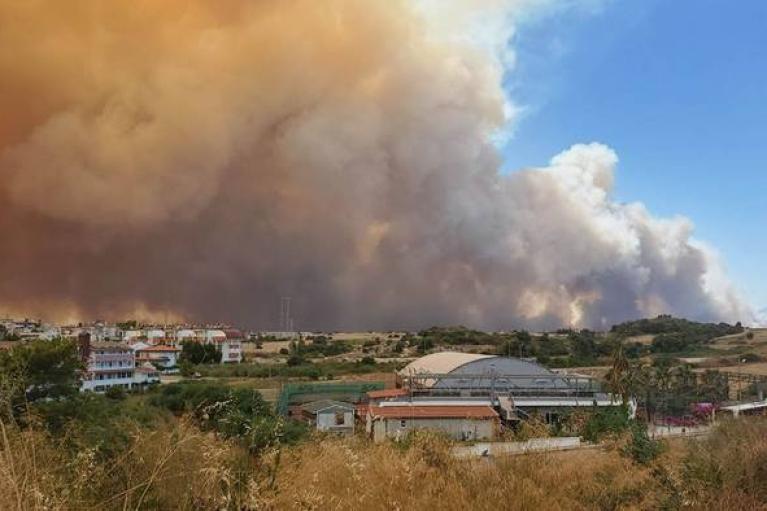 В Анталії вирує лісова пожежа: є постраждалі, почалася евакуація населення