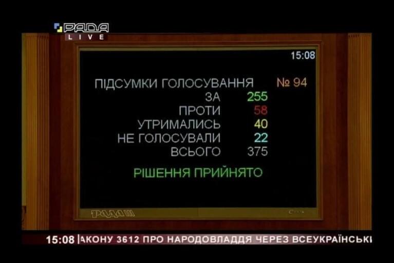 "Рада ухвалила закон про ""референдум Зеленського"""