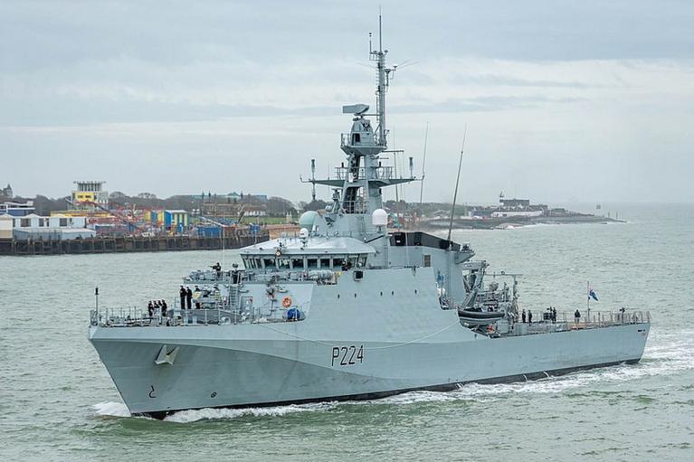 В порт Одессы зашел корабль ВМС Британии Trent