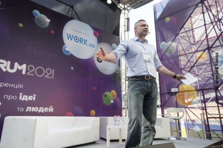 На iForum Кличко рассказал, какие цифровые сервисы ввели и планируют ввести в столице