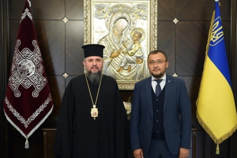 Митрополит Епифаний встретился с послом Украины в Турции (ФОТО)
