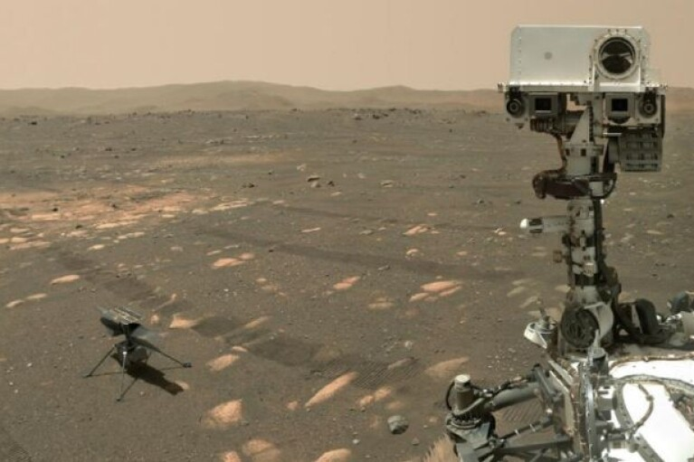 Беспилотник NASA совершил очередной успешный полет над Марсом