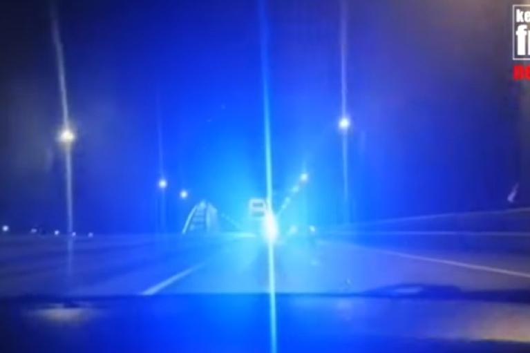 Водії пророкують масові ДТП через нове освітлення на Керченському мості (ВІДЕО)