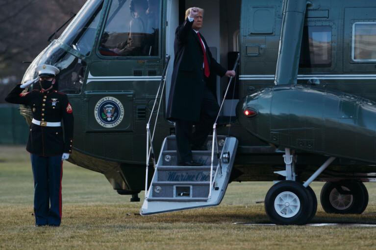 Трамп залишив Білий дім (ФОТО, ВІДЕО)