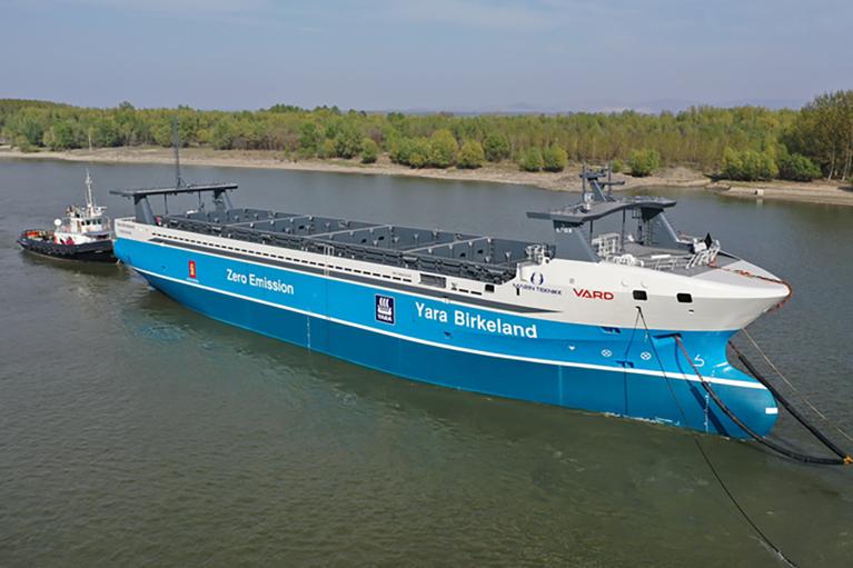 Будущее морских перевозок. Норвегия спускает на воду первое автономное грузовое судно