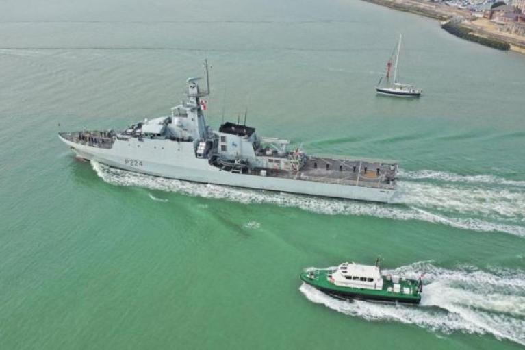 У Чорне море увійшов британський військовий корабель: прямує до Одеси (ВІДЕО)