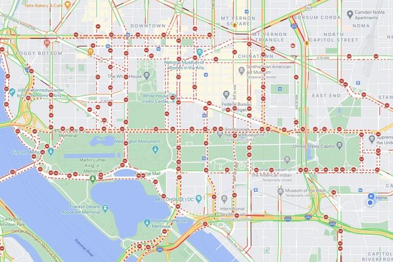 Инаугурация Байдена: центра Вашингтона окружают периметром безопасности (КАРТА)