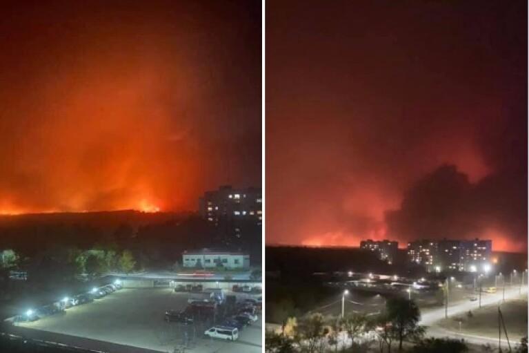 Обстрелы боевиков спровоцировали новый пожар на Луганщине