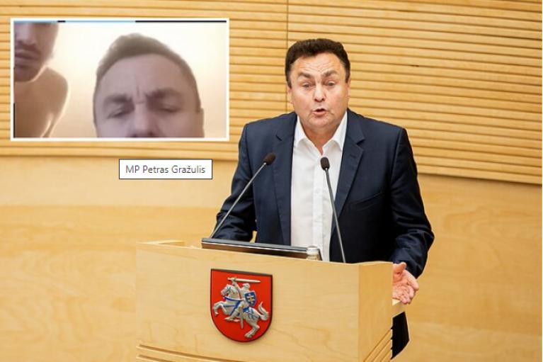 С голым мужчиной в кадре: в Литве депутат-гомофоб оконфузился на онлайн-совещании (ФОТО ВИДЕО)