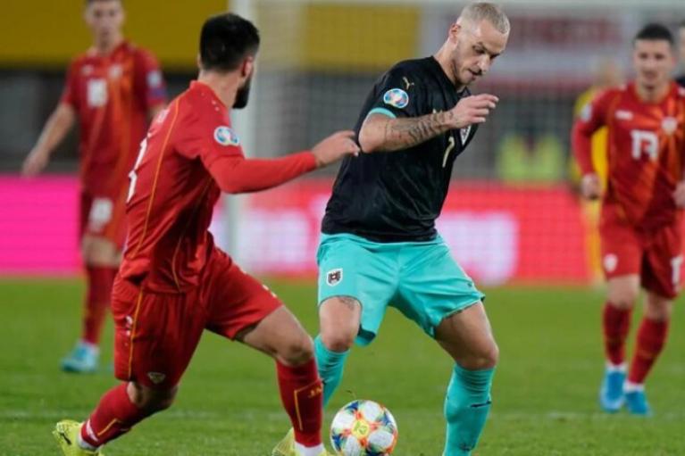 Євро-2020: Північна Македонія втратила очки в матчі з Австрією (ВІДЕО)
