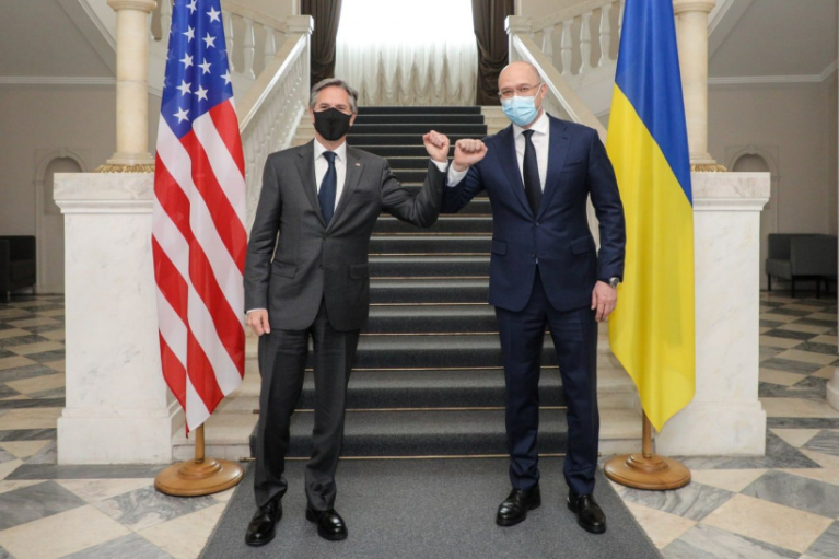 Шмыгаль призвал Блинкена что-то приватизировать в Украине (ФОТО)