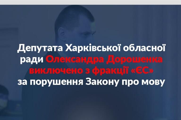"""Депутата исключили из фракции """"ЕС"""" за публичное выступление на русском языке"""