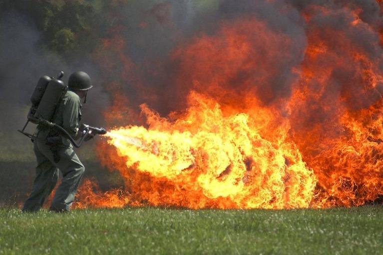 Большое огненное облако: оккупанты обстреляли Екатериновку из огнемета
