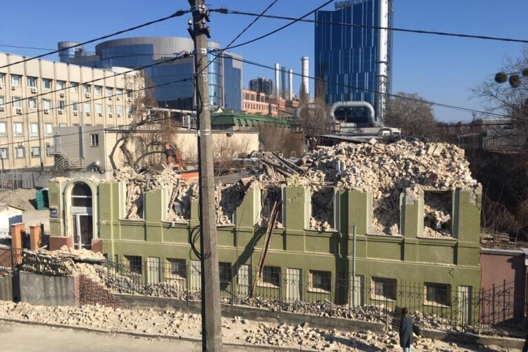 Дом Уткина, который снесли в Киеве, не был памятником архитектуры, - КГГА