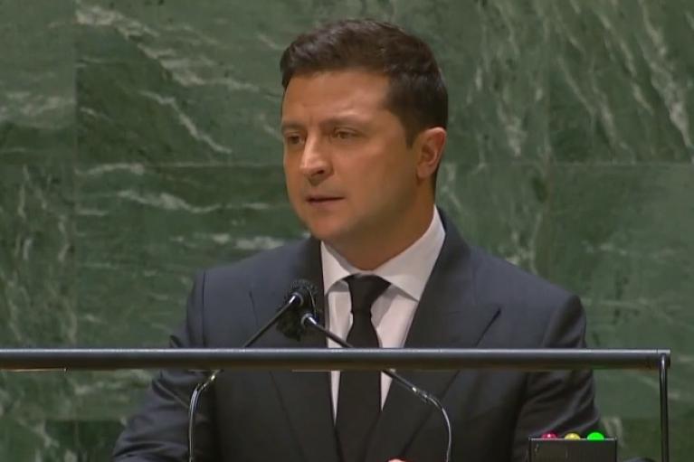 Зеленський почав свій виступ на Генасамблеї ООН з розповіді про замах на Шефіра