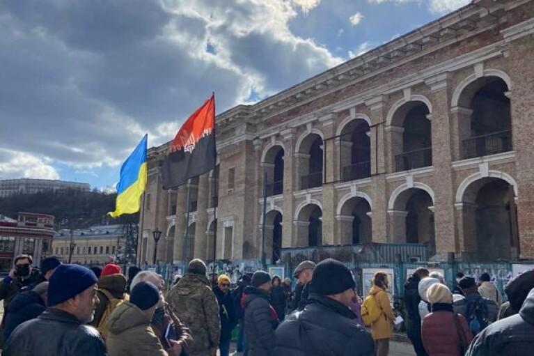 У Києві активісти вимагали повернути Гостиний двір у власність громади