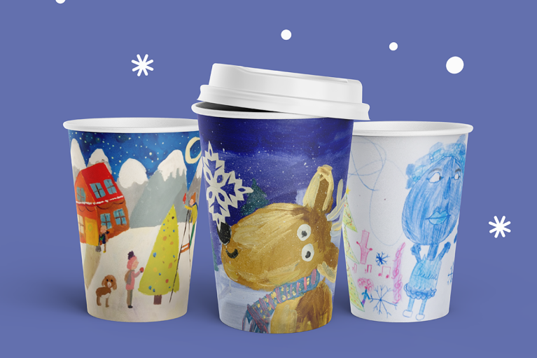 WOG во второй раз создаст зимние стаканчики с рисунками детей