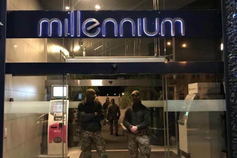 Силовики навідалися з обшуками до офісу Коломойського в центрі Києва (ВІДЕО)