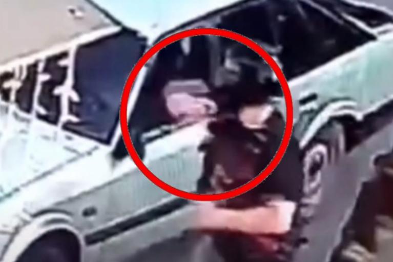 Одеські байкери в Черкасах побили молоду пару та розгромили їхнє авто (ВІДЕО)