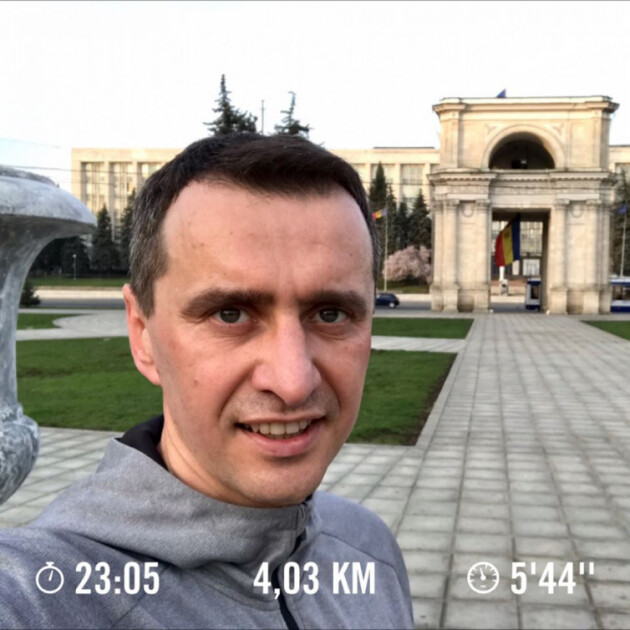 Виктор Ляшко во время пробежки