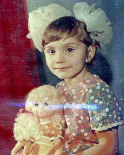 Олена Бондаренко в дитинстві