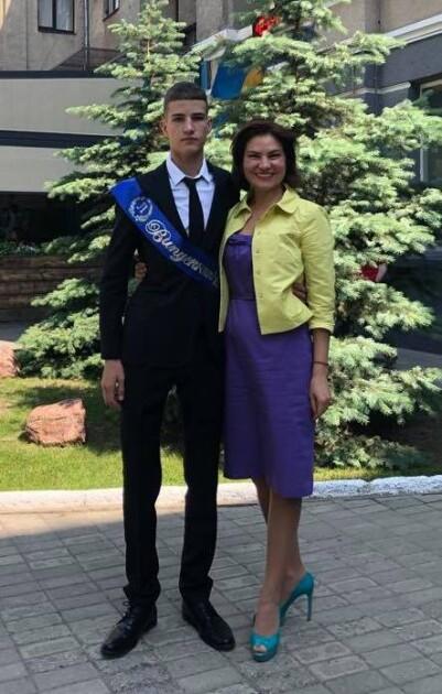 Ірина Венедіктова з сином