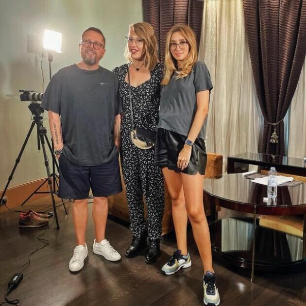 Ольга и Анатолий Шарий на интервью с Ксенией Собчак/clutch.net.ua