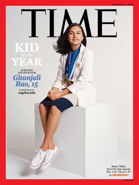 """""""Ребенком года"""" издание выбрало 15-летнюю американскую школьницу из штата Колорадо Гитанджали Рао"""