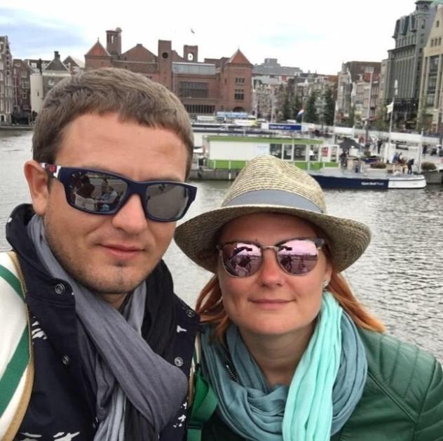 Людмила Буймистер с супругом/Instagram