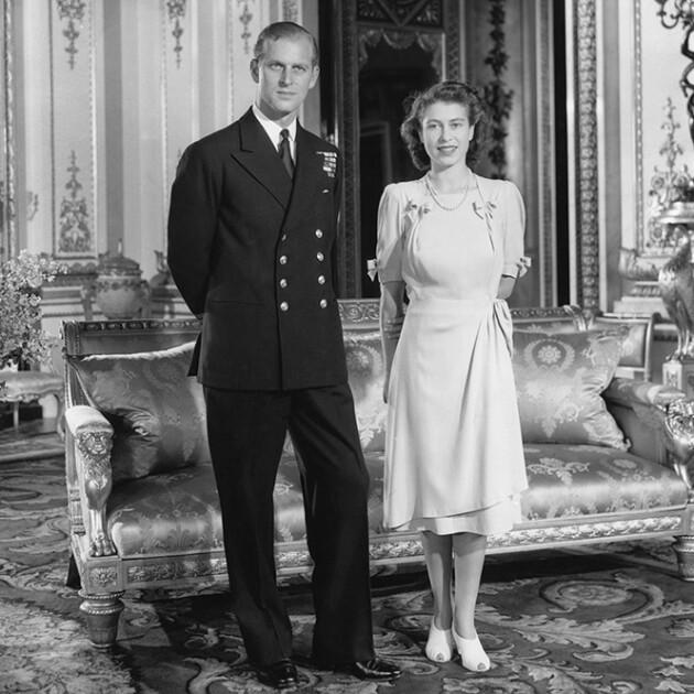 Филипп и Елизавета незадолго до свадьбы в 1947 году