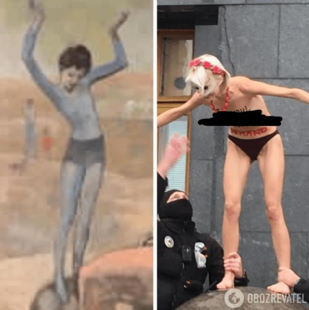 Порівняння з картиною Пікассо