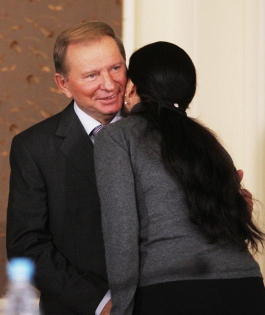Інна Богословська та Леонід Кучма