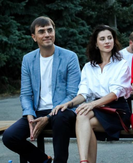 Володимир Омелян з дружиною Світланою Бевзою